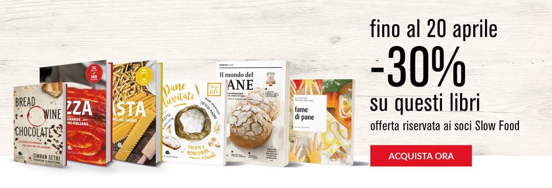 Libri su pane, pasta, pizza...